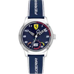 Orologio uomo Scuderia Ferrari Pitlane FER0860005 con cassa in acciaio della misura di 34mm e cinturino in pelle. Orologio dotato di vetro minerale. La resistenza all'acqua è di 3 atm.